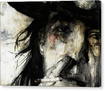 Stevie Ray Vaughan Retro Canvas Print by Paul Lovering