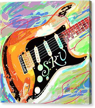 Stevie Ray Vaughan Stratocaster Canvas Print by David Lloyd Glover