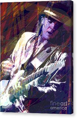 Stevie Ray Vaughan Texas Blues Canvas Print by David Lloyd Glover