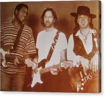 Stevie Ray Vaughan  Eric Clapton  Robert Cray Canvas Print