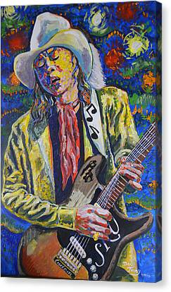 Stevie Ray Vaughn With No.1 Stratocaster Canvas Print by Dan Terry