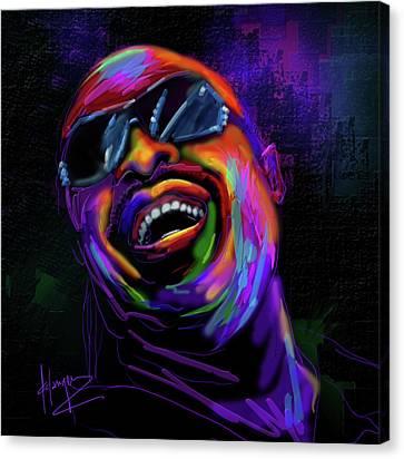 Stevie Wonder Canvas Print by DC Langer