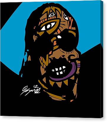 Stevie Wonder Full Color Canvas Print by Kamoni Khem