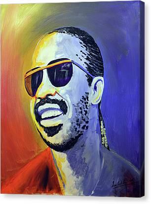 Canvas Print - Stevie Wonder by Lee Wolf Winter