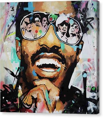 Stevie Wonder Portrait Canvas Print