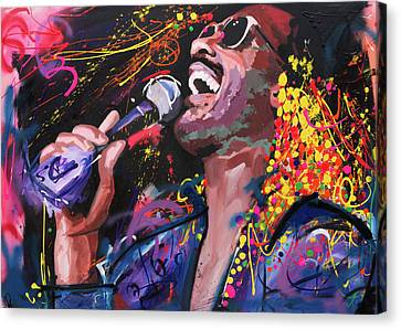 Figures Canvas Print - Stevie Wonder by Richard Day