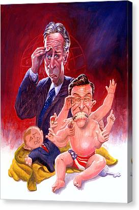 Stewart And Colbert Canvas Print by Ken Meyer jr