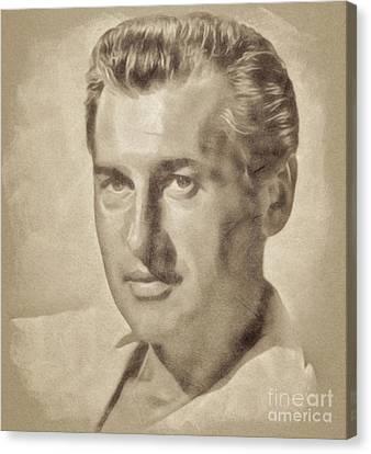 Stewart Granger, Hollywood Legend By John Springfield Canvas Print by John Springfield