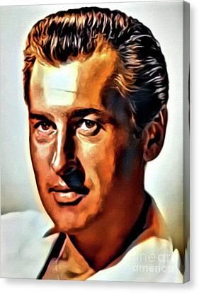 Stewart Granger, Vintage Actor. Digital Art By Mb Canvas Print by Mary Bassett