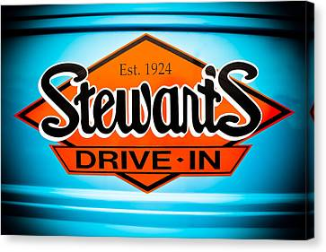 Stewart's Drive-in Sign  Canvas Print