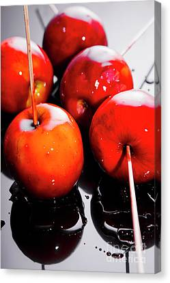 Sticky Red Toffee Apple Childhood Treat Canvas Print by Jorgo Photography - Wall Art Gallery