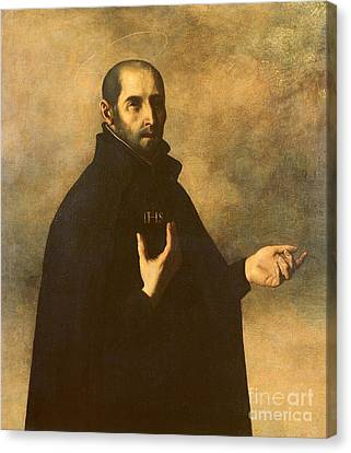 St.ignatius Loyola Canvas Print by Francisco de Zurbaran