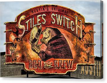 Pigs Canvas Print - Stiles Switch Bbq by Stephen Stookey