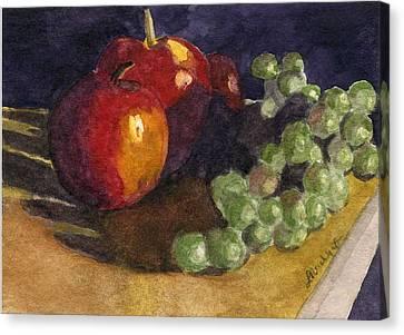 Still Apples Canvas Print by Lynne Reichhart