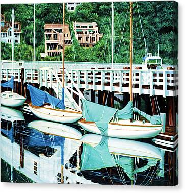 Still, In Sausalito Canvas Print by Mary Grden's Baywood Gallery