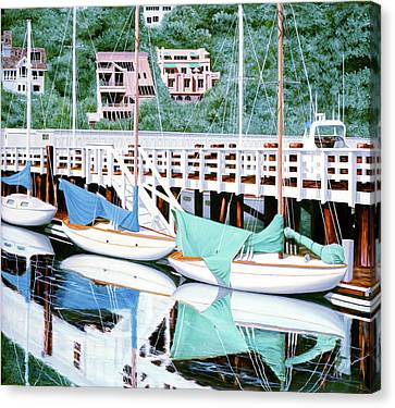 Still In Sausalito - Prints From My Original Oil Painting Canvas Print
