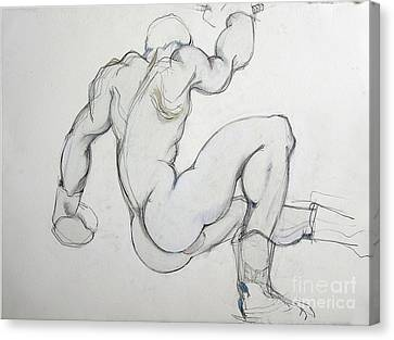 Canvas Print featuring the drawing Still In The Game - 2 by Carolyn Weltman