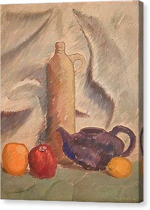 Still Life 1961 Canvas Print by Fred Jinkins