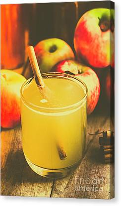 Handcrafted Canvas Print - Still Life Apple Cider Beverage by Jorgo Photography - Wall Art Gallery