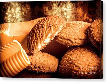 Biscuit Canvas Print - Still Life Bakery Art. Shortbread Cookies by Jorgo Photography - Wall Art Gallery