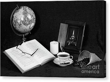 Canvas Print - Still Life Bw Coffee by Cecil Fuselier