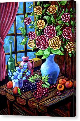 Still Life By The Window Canvas Print