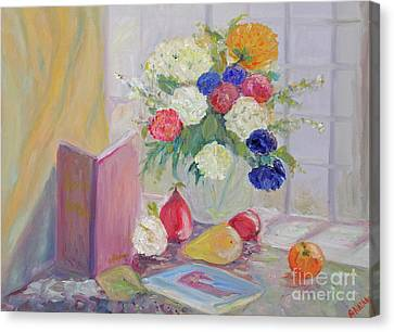 Still Life By Window Canvas Print by Barbara Anna Knauf