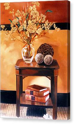 Canvas Print featuring the painting Still Life by Chonkhet Phanwichien