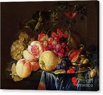 Peach Canvas Print - Still Life by Cornelis de Heem