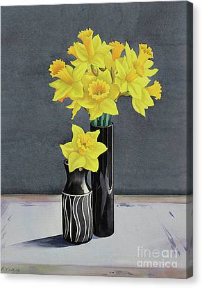 Still Life Daffodils Canvas Print by Christopher Ryland