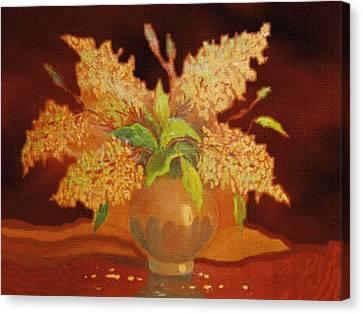 Still Life For Mathilda H B Canvas Print by Gert J Rheeders
