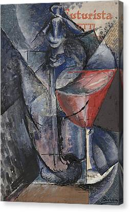 Boccioni Canvas Print - Still Life  Glass And Siphon by Umberto Boccioni