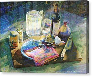Still Life Gourmet Kitchenware Canvas Print by R christopher Vest