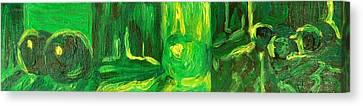 Still Life Green Canvas Print by Hatin Josee