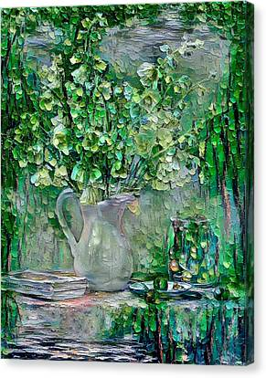 Still Life Green Canvas Print by Yury Malkov