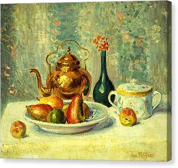Still Life Canvas Print by Hippolyte Petitjean