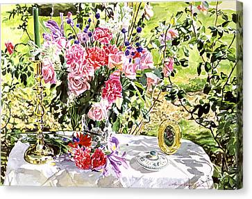 Still Life In The Artist's Garden Canvas Print by David Lloyd Glover