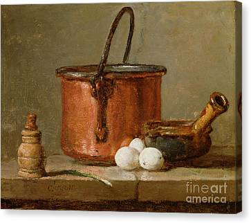 Still Lives Canvas Print - Still Life by Jean-Baptiste Simeon Chardin