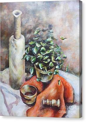Pestal Canvas Print - Still Life by Joan Clear