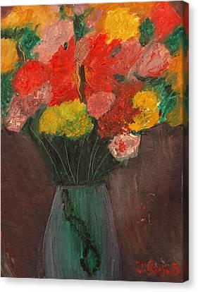 Flowers Still Life Canvas Print by Jose Rojas