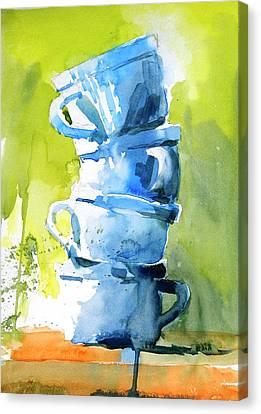 Loose Watercolor Canvas Print - Still Life No 1 by Virgil Carter