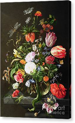 Still Life Of Flowers Canvas Print by Jan Davidsz de Heem