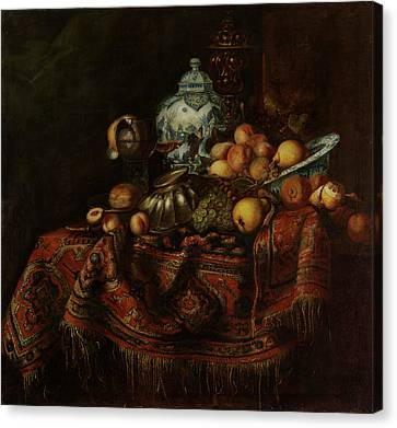 Canvas Print - Still Life Of Fruits And Opulent Objects by Michael Durst