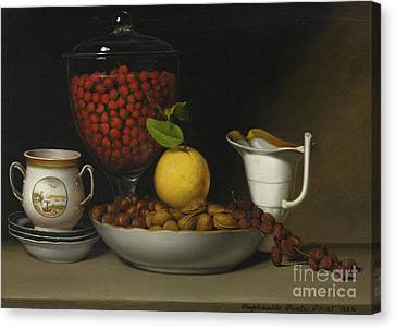 Still Life   Strawberries, Nuts Canvas Print by Raphaelle Peale