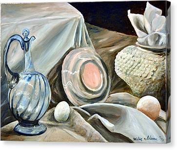 Still Life Study In 2 Color Canvas Print by Walter Idema