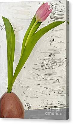 Still Life Tulip Canvas Print by Marsha Heiken