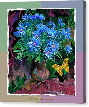 Canvas Print featuring the photograph Still Life With A Butterfly by Vladimir Kholostykh