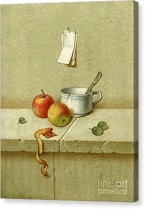 Still Life With A Teacup Canvas Print