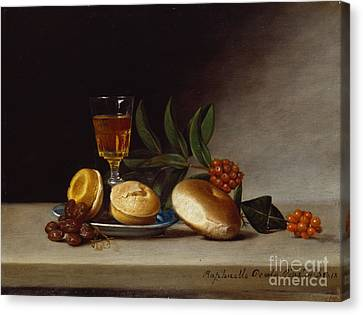 Still Life With A Wine Glass Canvas Print by Raphaelle Peale