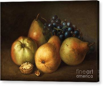 Still Life With Apples Canvas Print by MotionAge Designs